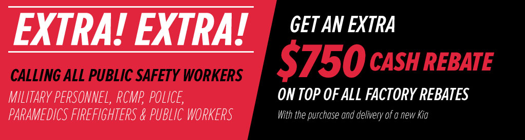 KIA Public Safety Workers Bonus -Get an extra $750 Cash Bonus
